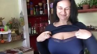 Big tit mature fucked in flower shop