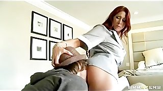 Hot Big Ass & Tit maid is caught fucking her boss' sonâ??s dick a