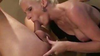 Horny Mature Blonde Wife Strapon