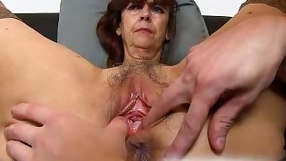 Very old hairy vagina of gradma Lada on close-ups