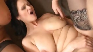 Three sexy matures fuck one lucky guy